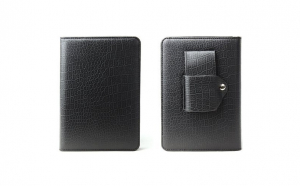 """Husa de protectie pentru Kindle 6"""", din piele, negru, 17 x 12 cm, Vivo"""