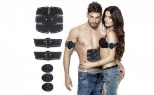 Aparat pentru remodelare abdomen SixPack Gym - picioare si/sau brate, cu electrostimulare, 3 dispozitive si 3 pad-uri