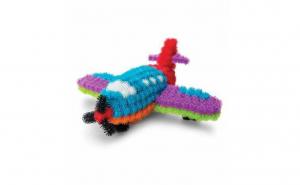 Set creatie tip Bunchems - 400 de piese colorate si 36 de accesorii - ochi, aripi, guri, ochelari, palarii