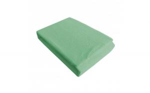 Husa de pat din frotir Jerry  pentru o sigura persoana  Verde  90x200 cm