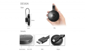 Streaming Media Player HDMI Wi-Fi, DLNA, Android/iOS