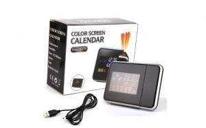 Ceas cu calendar, LCD, alarma si proiectie, ecran color cu iluminare DS-8190
