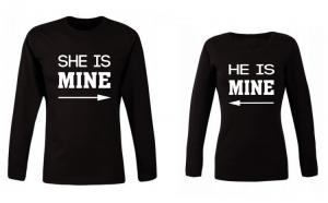 Set de bluze negre She/He is mine COD