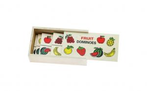 Joc domino din lemn invata fructele si legumele