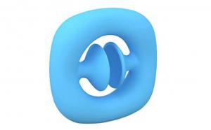 Jucarie senzoriala Snapperz suction cup popper noise, Oktane, 6x6x1.2 cm, silicon, Albastru