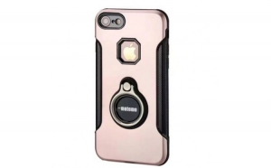 Husa Apple iPhone 7 Motomo Ring Roz-Auriu