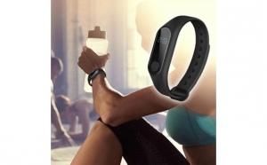 Bratara smart Fitness Bluetooth, monitorizare ritm cardiac, cu ecran OLED, rezistenta la apa, apel & sms reminder, pedometru