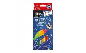 Set 12 creioane colorate Kidea