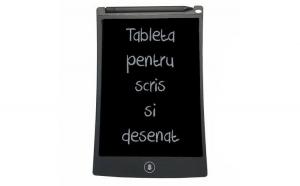 Tableta de scris, negru, 22.3x13.9x0.9cm