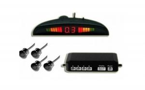 Senzori parcare pentru toate marcile auto, display digital cu led-uri si patru senzori de parcare
