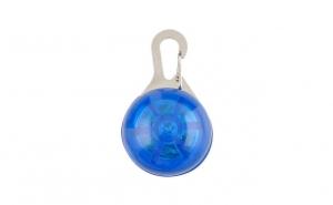 Medalion led albastru cu carabina pentru animale de companie, Vivo, JF0205 blue