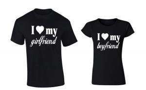 Set de tricouri NEGRE pentru cuplu I