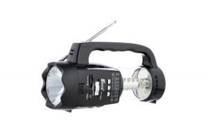 Set Radio Portabil cu 2 x Lanterne Fepe FP-1350U , MP3 player, USB, SD / TF CARD, Acumulator, Negru si Modulator Centenar KC-681