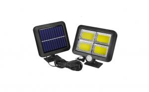 Lampa solara 128 x LED COB, senzor de miscare si panou solar, 10W KATHODE