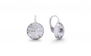 Cercei Rivoli Short Leverback Mini Crystal