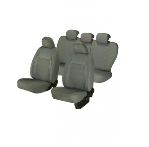 Huse scaune auto FIAT PANDA  2000-2010  dAL Elegance Gri,Piele ecologica + Textil