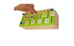 Joc Montessori sortator din lemn bilingv