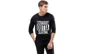 Bluza barbati neagra - Straight Outta Slatina