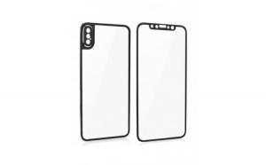 Folie protectie din sticla pentru Iphone X, full cover, negru
