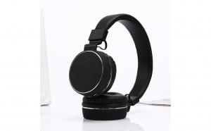 Casti fara fir pliabile stereo cu suport MIC Player muzical cu microfon pentru computer, telefon mobil