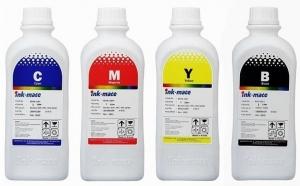 Pachet flacon refill cerneala negru (pigment),cyan,magenta,galben (dye) Brother 1 litru,Ink-Mate BT6000,BT5000