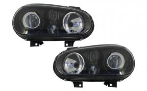 Set 2 faruri compatibil cu VW Golf IV 97-04 R32-Look negru