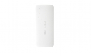 Baterie externa portabila, 20.000 mah, 3xUSB, afisaj procent baterie, alb