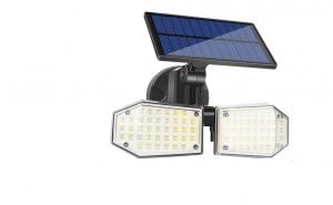 Lampa cu panou solar dublu, split de perete, leduri, senzor