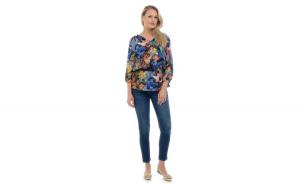 Bluza Dama Multicolora cu Imprimeu de Toamna