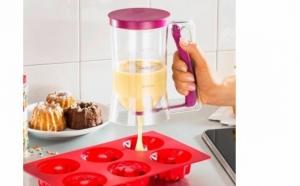 Dispenser pentru dozare aluat de briose, gogosi, prajituri, foarte comod si usor de folosit
