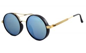 Ochelari de soare Rotunzi Bleu Oglinda