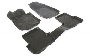 Covoare cauciuc stil tavita RENAULT CLIO IV 2012-> ( 3D 0361 -  A10 )