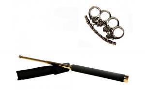 Set baston telescopic 65 cm auriu +