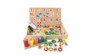 Tablita de lemn cu 2 fete Montessori, WD
