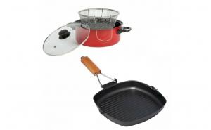 Tigaie grill+Friteuza teflonata