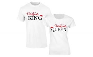 Set de tricouri Albe Christmas KING/Queen COD ST230