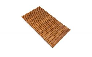Covor de baie din lemn de salcam robust