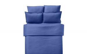Lenjerie Damasc 100% bumbac DT18, albastru