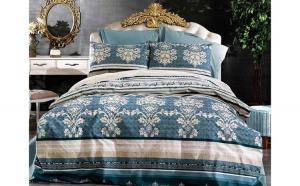 Lenjerie de pat pentru o persoana cu husa de perna patrata, Moonwalk, bumbac satinat, gramaj tesatura 120 g mp, multicolor, 3 piese