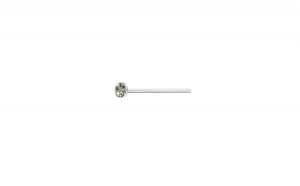 Piercing  nas din Argint, Cristal 2 mm