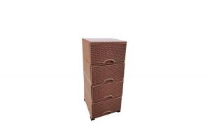 Dulap plastic depozitare cu laterale tip ratan, Elif, 38x45x90cm