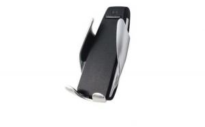 Suport auto incarcator pentru telefon, cu incarcare wireless, senzor fixare/eliberare telefon