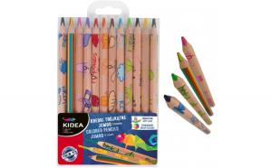 Set jumbo 12 creioane colorate+creion