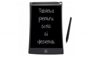 Tableta de scris, negru, 18x11.5x0.9cm
