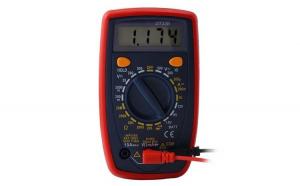 Multimetru digital masura AC/DC, diode, ecran LCD iluminat, rosu