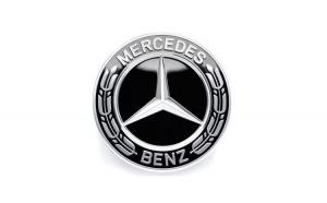 Capac Central Janta Clasic, Mercedes-Benz, Argintiu-Negru set 4 buc