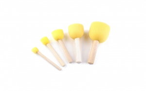 Set pensule burete pentru sabloane 5 buc