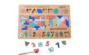 Puzzle Tetris Montessori 3 in1