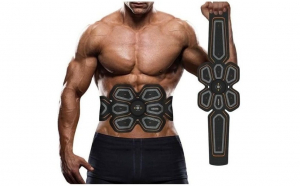 Centura electrostimulare Six Pack EMS pentru abdomen si solduri