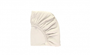 Cearceaf alb de pat cu elastic 160 x 200 cm, bumbac